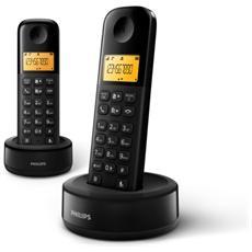 """Telefono Ricevitore con Vivavoce e Display da 1.6"""" Nero e Arancio D1302B / 23"""