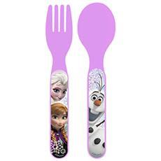 Set 6 X Cucchiaio Forchetta Polipropilene Frozen Mondo Baby