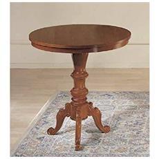 Tavolino Rotondo In Legno D. 68 H72