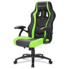 Sedia Gaming Skiller SGS1 in Pelle Sintetica Colore Nero e Verde