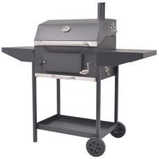 VIDAXL - Barbecue A Carbonella Con Ripiano Inferiore Nero