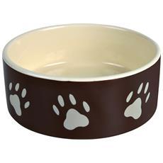 Ciotola In Ceramica Con Impronte (0.8 L) (marrone / crema)