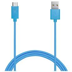 Cavo di ricarica da USB a MicroUSB 1 metro - Blu