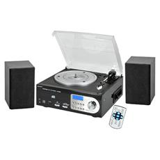 Stereo Giradischi TT-38 Lettore CD / Cassetta / USB / Slot SD Supporto MP3 / WMA Sintonizzatore AM / FM