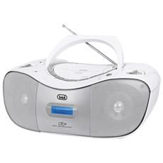 Stereo Portatile Cd Radio Dab Trevi Cmp 582 Dab Bianco