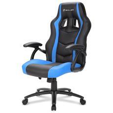 Sedia Gaming Skiller SGS1 in Pelle Sintetica Colore Nero e Blu