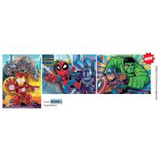 25248 - Supercolor Puzzle - Marvel Super Hero Avengers - 3 X 48 Pezzi - Made In Italy - Puzzle Bambini 4 Anni +
