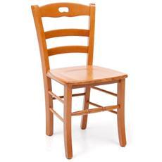 Sedia da pranzo Loris massello in legno di faggio color ciliegio 2 Pz