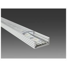 Profilo In Alluminio 2mt Pr1 Per Strisce Led 3528 / 5050 / 5630 + Cover Trasparen