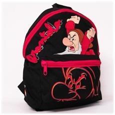 Zaino Brontolo I Sette Nani Disney 1 Scompartimento + 1 Tasca Frontale Nero / rosa