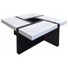 Tavolino Da Salotto Bianco Nero Arredamento Moderno Living Sala