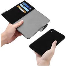 Custodia Iphone X Portafoglio Portacarte Cover Amovibile Forcell - Nero