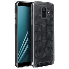 Cover Galaxy A6 Silicone Gel Morbida Prisma Geometrico Forcell - Trasparente