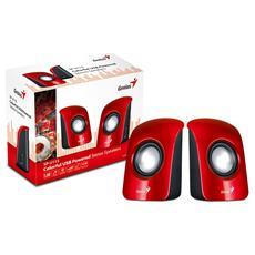 Casse Audio Colore Rosso 1,5 W Connessione Usb