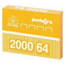 Punti metallici 64 per fissatrici ufficio Cf. 2000pz.