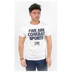 T-shirt We Are Combat Bianco S