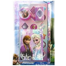 stationery set 'frozen - ' rosa (4 pezzi) - [ m3049]