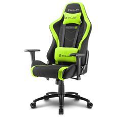 Sedia Gaming Skiller SGS2 in Pelle Sintetica Colore Nero e Verde