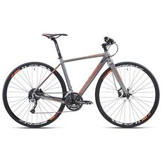 Bici Ibrida Bottecchia 347 Gravel Cross 28 Uomo 27v - Shimano Acera - Antracite - Arancio