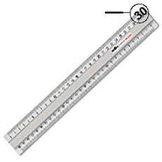 pz. 1 Triplodecimetro Profil argento 30cm 18430