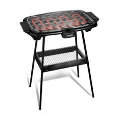 112247 BBQ griglia Barbecue elettrica con gambe e ripiani 47 x 28 cm potenza 2000 Watt