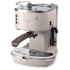 ECOV 311. BG Icona Vintage Macchina da Caffè Espresso Potenza 1100 Watt Capacità 1.4 Litri