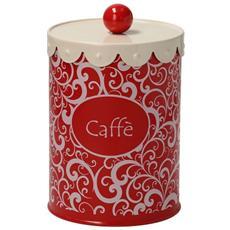 Barattolo Caffe' Cm 12 H18 Rosso-mademoiselle Linea Dolce Casa