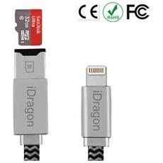 Cavo 2in1 Backup Ricarica Lettore Memory Card Reader I-flash Drive Lightning Micro Sd Usb Per Iphone 5 5s 7 6s 6 Plus Ipad