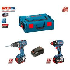 Kit Gsb 18v-60 C + Gdx 18 V-ec (2 X 5,0 Ah + Gal1880cv + L-boxx 136)