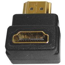 Adattatore maschio-femmina HDMI, gold plated, nero