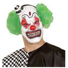 Maschera Mezzo Viso Killer Clown Con Cap