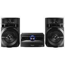 Sistema Mini Hi-Fi SC-UX100 Lettore CD Supporto MP3 Potenza Totale 300W USB / Bluetooth