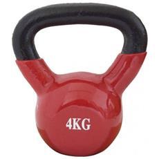 Peso Kettlebell Neoprene Rosso Allenamento Forza Resistenza Casa 4kg