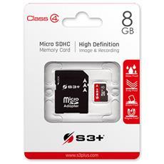 MicroSDHC 8 GB Classe-4 con Adattatore SD