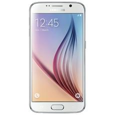 "SAMSUNG - SM-G920F Galaxy S6 White Display SuperAmoled 5,1"" Quad HD Octa Core  Ram 3 GB Storage 32 GB Doppia..."