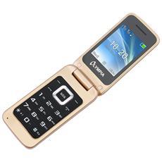 "Luna Senior Phone Oro Dual Sim Display 2.4"" +Slot MicroSD con Tasti Grandi +Tasto SOS Bluetooth Fotocamera - Europa"