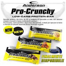 Confezione 24 Barrette Proteiche Pro-crunchy 40g Barretta Proteica 33% (biscotto)
