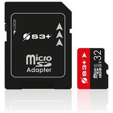 MicroSDHC 32 GB Classe-10 con Adattatore SD