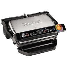GC730D Griglia di contatto Da tavolo Elettrico 2000W Nero, Acciaio inossidabile barbecue e bistecchiera