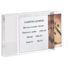 porta prezzi da banco medium 10x14x2cm in acrilico