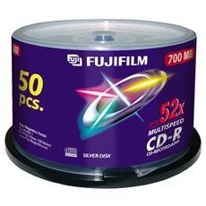 CD-R 700 MB 52x 80 Min 50 Pezzi 16999