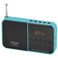 Radio Portatile FM 0DR74000 Supporto MP3 Slot microSD colore Azzurro