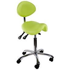 Sgabello Comfort Con Seduta A Sella, Verde Chiaro