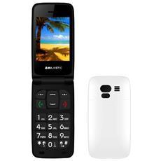 "TLF-Sileno 41N FLIP Senior Phone Display 2.4"" Micro SD con Tasti Grandi + SOS Fotocamera Colore Bianco"