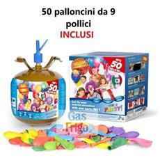 Bombola Elio Usa E Getta Per Palloncini + 50 Palloncini Omaggio Buon Compleanno