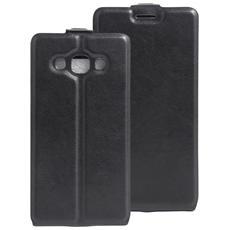 Custodia Cover Vertical Case Flip Leather Nero Chiusura Magnetica Per Samsung Galaxy J3 Pro Sm-j3119 + Pellicola Protettiva + Pannetto Pulisci Schermo Qualità Premium Digital Bay