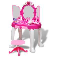 Giochi Da Camera Per Bambini Tavolo Cosmetica 3 Specchi Con Luci / suoni