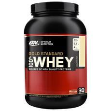 100% Whey Gold Standard 2 Lbs (908g) Optimum Nutrition Proteine Massa Muscolare - Cioccolato Bianco E Lampone