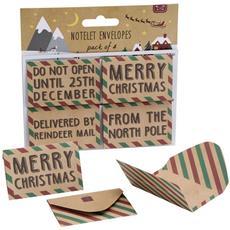 Mini Biglietti Notelet Di Natale (set Da 4) (4 X 6 Cm) (marrone)