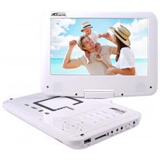 """VR149W Portable DVD player Convertibile 9"""" Bianco lettore DVD / Blu-Ray portatile"""